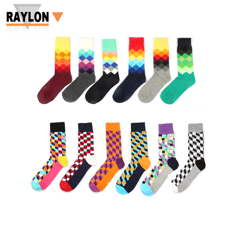 RL-0501 happy socks men colorful mens happy socks happy socks men