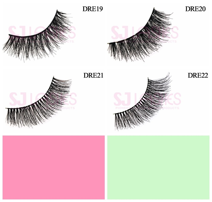 Private Label Oem Odm Remy Hair Material Demi Wispies Eyelashes