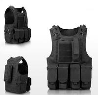 Tactical Air soft Vest Safety Police Vest Wire Bulletproof Vest for Combat Strike Plate Carrier Military Uniform