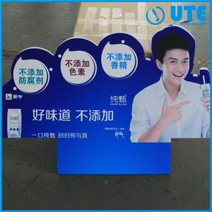 Fashionable shape special die cut uv printing 0.6 density pvc foam board