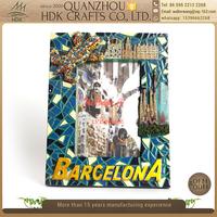 High quality Brazil barcelona colorful handmade souvenir resin photo frame for sale