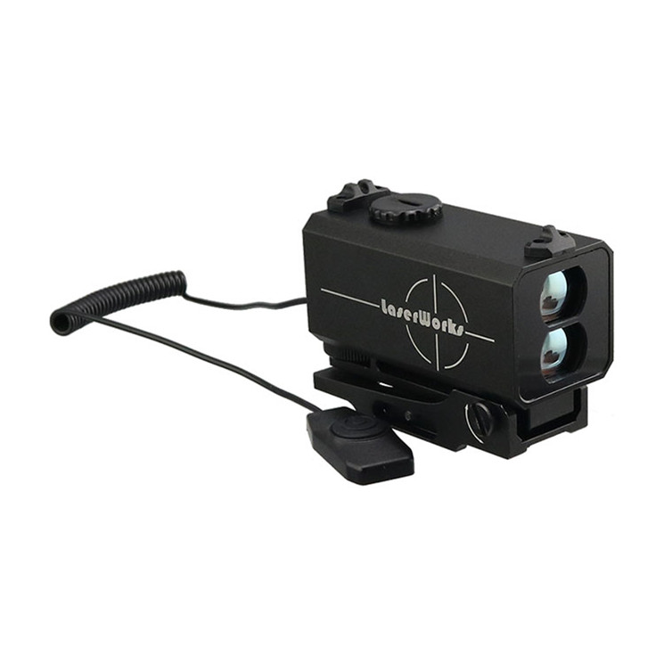 Laser Works 700m rainproof anti-recoil rifle scope hunting range finder with mount