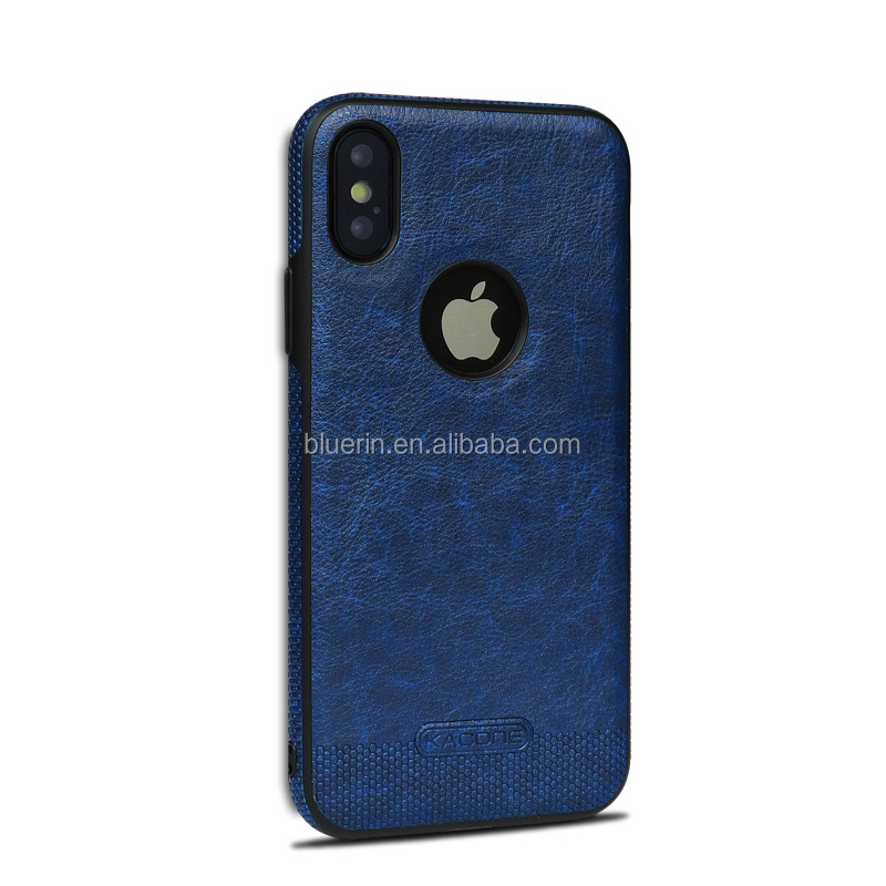 For iphone x leather phone case tpu+pu phone case