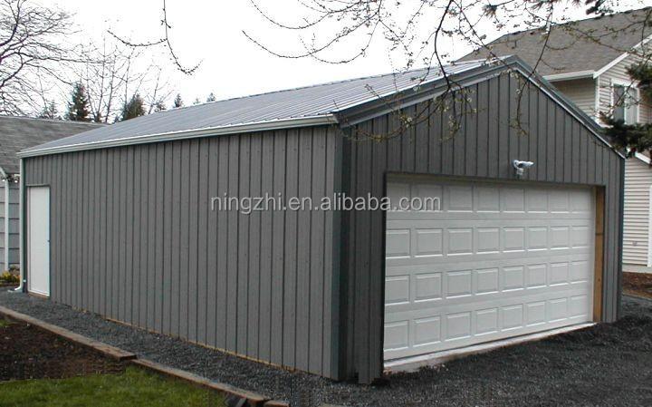 en acier pr fabriqu garage construction atelier m tal hangar de stockage garage toit et. Black Bedroom Furniture Sets. Home Design Ideas