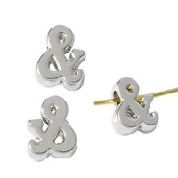 5.5mm Zinc alloy ampersand symbol spacer beads with crystal for jewelry