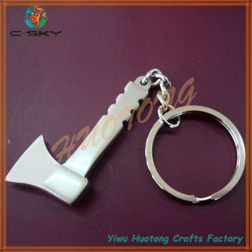 Customized alloy new design leather flower key chain