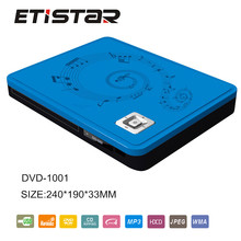 Full plastic home dvd player with usb led display