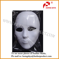 Full Face Plastic Plain Mask Custome Party Masks