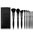 9pcs makeup brush set black on the bottom have diamond decoration bamboo makeup brush