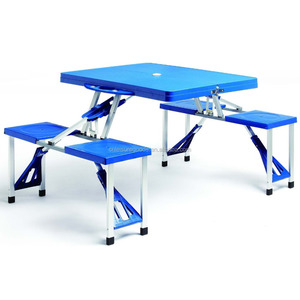 Plastic cheap camping set picnic table