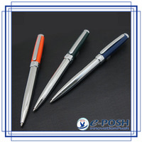 Elegant metal twist type ball pen and roller ball pen