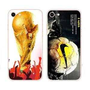 2018 Soft White Silicone Back Cover for iPhone Samsung Galaxy 6 7 8 X Plus Custom Print Case for World Cup Russian Design