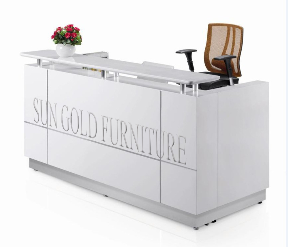 Wooden Furniture Model Office Front Desk Counter Reception