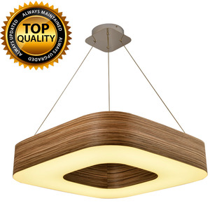 Hot Sale Unique Handmade Suspending Indoor Modern Home Living Decorative Wooden Hanging Lamp