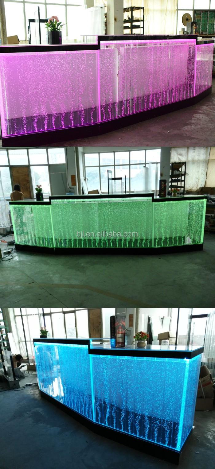 Acrylic Water Bubble Led Light Bar Table