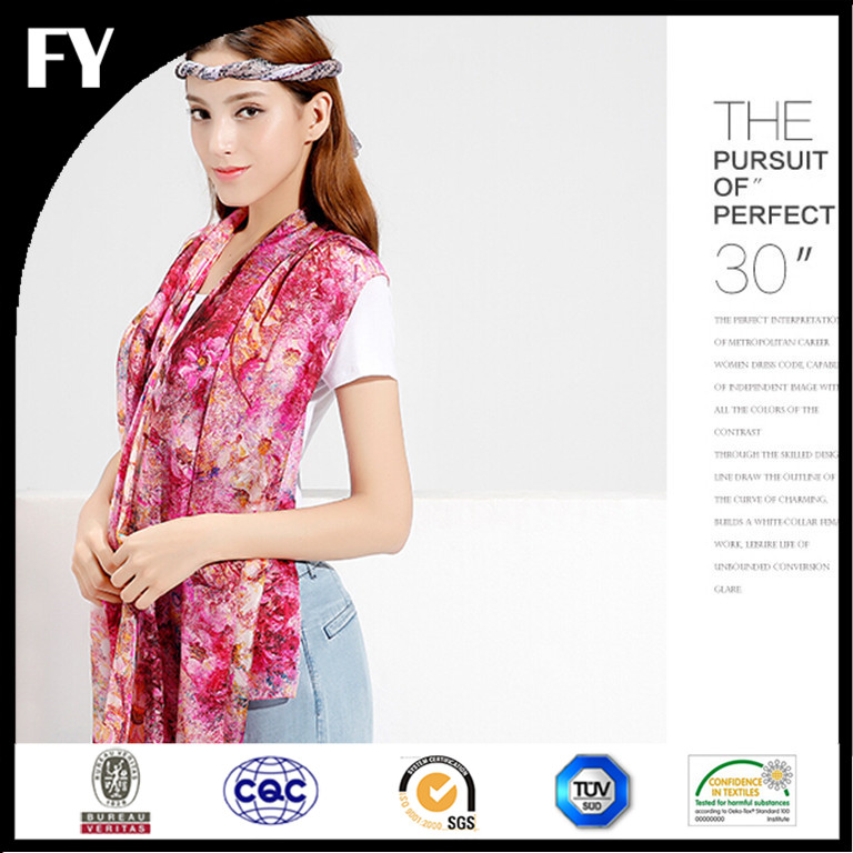 Manufactory direct custom digital printed kashmir silk scarves