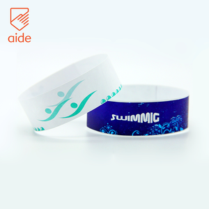 AIDE Custom Digital Printed Wrist Band Disposable Tyvek Wristband for Swimming Pool