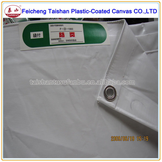 PVC Material Japanese Construction Safety fireproof cloth