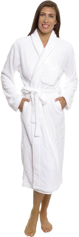 Silver Lilly Womens Plush Wrap Kimono Loungewear Robe