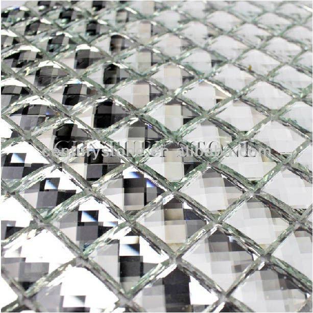 Diamond Mosaic 13 Facet Silver Mirror Glass Tiles   Buy Mirror Glass  Tiles,Sliver Mirror Tiles,Sliver Mirror Mosaic Tile Product On Alibaba.com