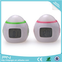 Nature Sound 7 Color Changing Light Travel Alarm Clock