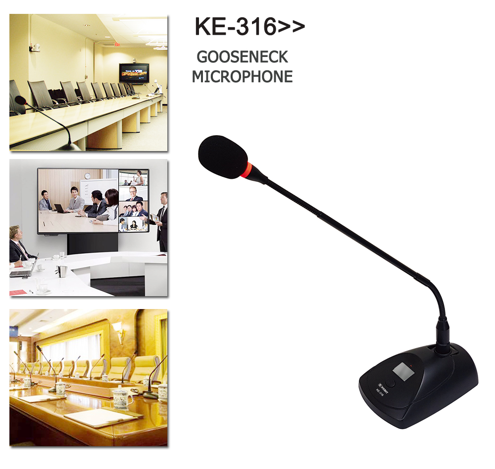 KE-316 KEBIT can extend flexible gooseneck tube for foreign trade professional wired microphone