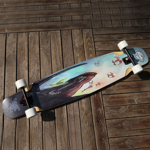118*25cm Long Board type and PU material long board wheels 70*50mm outdoor sport longboard skate board
