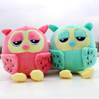 Cheap Colourful Owl Birthday Gift Plush Toy For Babies Cute Stuffed