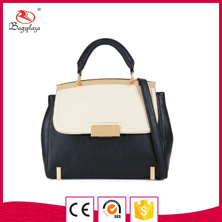 6a7ed942e4 2018 Alibaba Korean Fashion Shoulder Bag Two Tone Leather Litchi Handbag