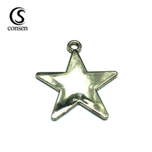Star shape stamp small custom metal jewelry tags plate with logo
