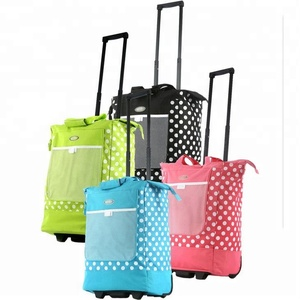 BSCI Travelers Choice Traveler Rolling Shopper Tote with Free Removable Leak Proof Liner,Shopping Bag With Wheels