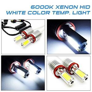 LEDIN 2x H11 H8 High Power COB LED HL Low Beam Headlight 3200lm 40W Bulb