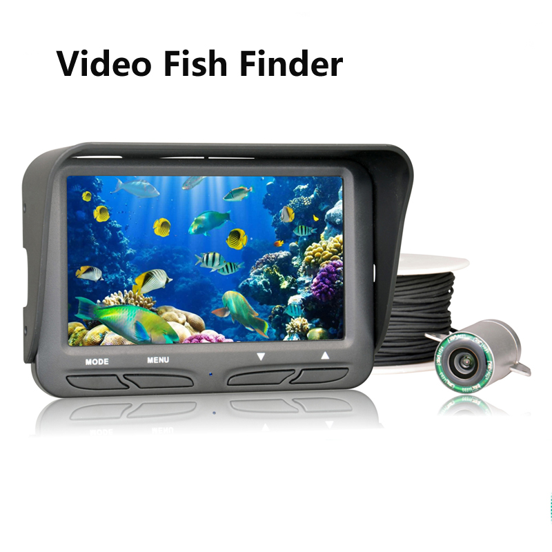 Remote control Gps Visual Fish Finder with 4.3 inch HD TFT LCD and 20m Cable