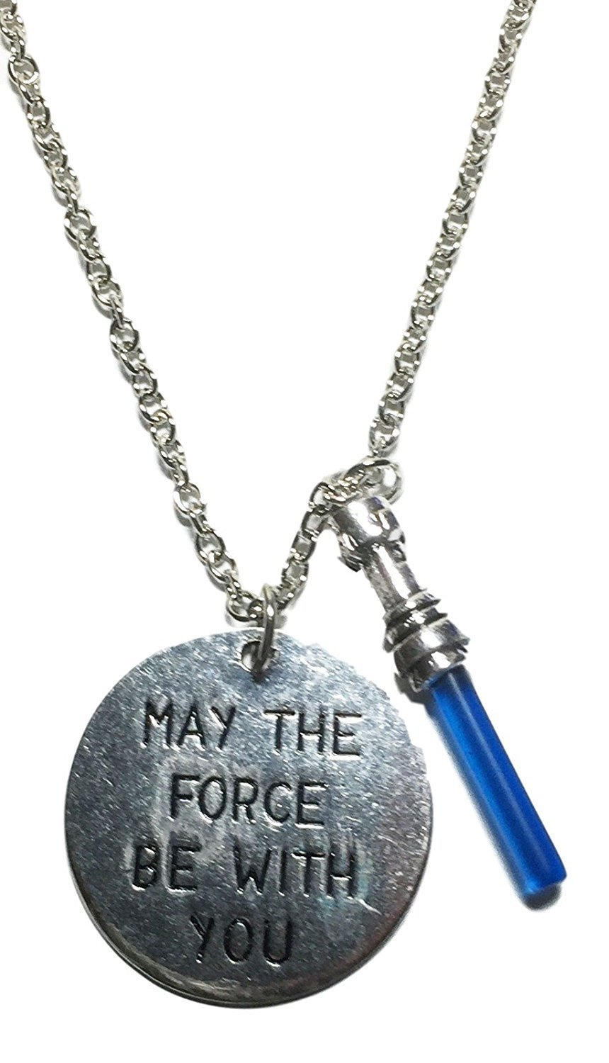 """Star Wars Light Side """" May The Force Be With You """" Charm Necklace"""