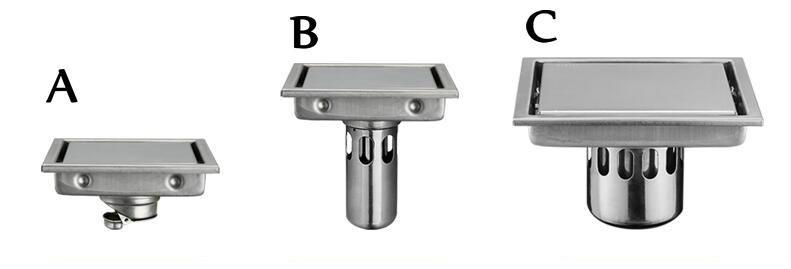 Square 110*110mm Modern Brass Grille shape Bathroom Floor ...