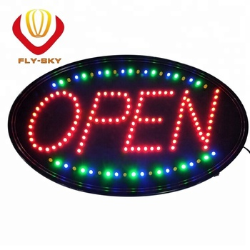 Neon Sign OPEN, LED business open sign advertisement board Electric Display Sign, Two Modes Flashing & Steady light