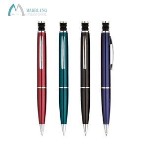 Marbling MR023B High Quality Spray Transparent Paint Metal Ball Pens With Logo
