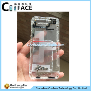 free shipping ed7fe e4968 For iphone 5 transparent back housing matte housing replacement custom  housing for iphone 5