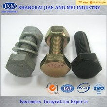 ASEM A325 american standard black coated bolts and nuts