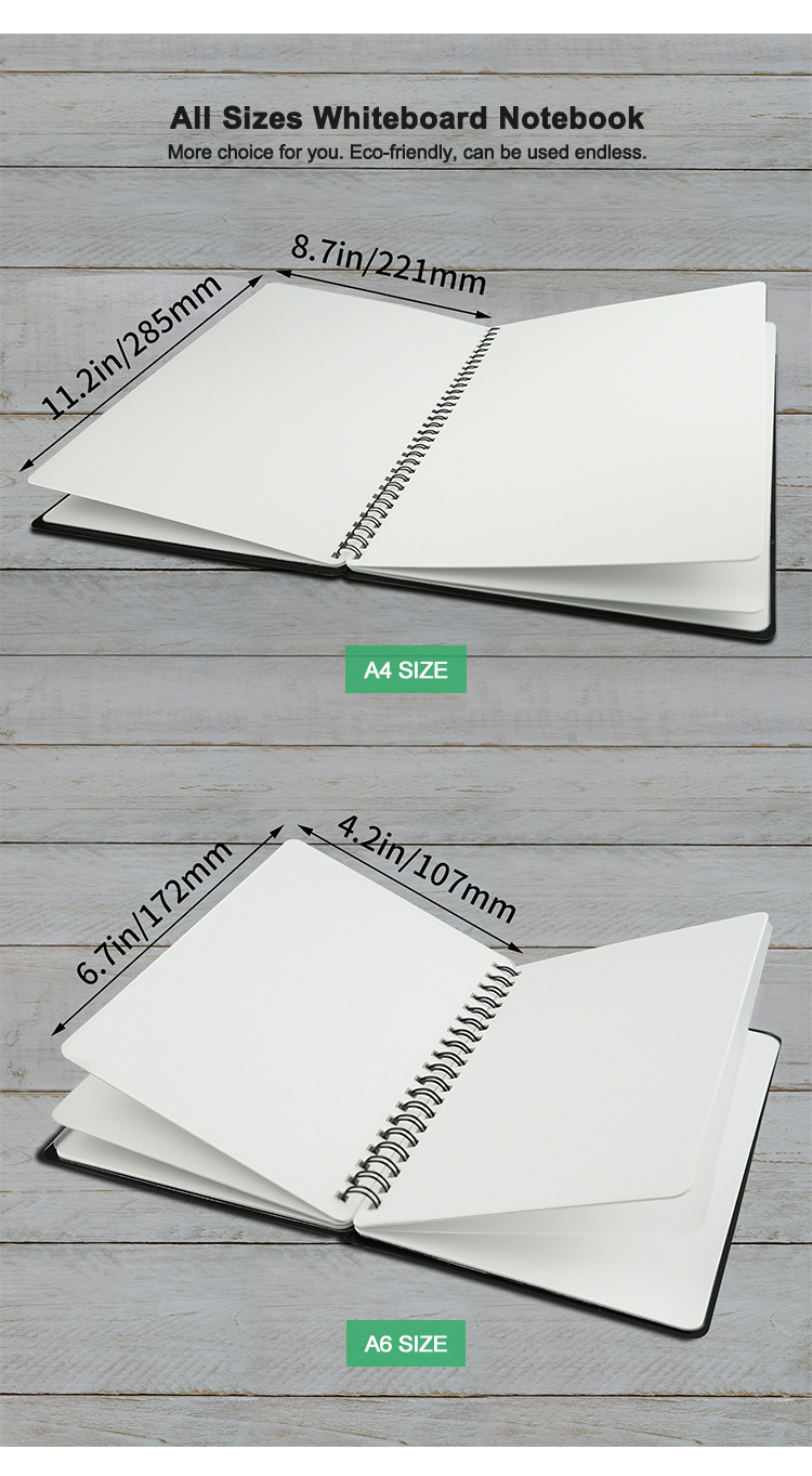 Wholesale A6 Smart Sketch Book White Board Notebook Erasable Writing Notes Memo With Marker