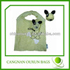 wholesale competitive price nylon animal folding tote bag