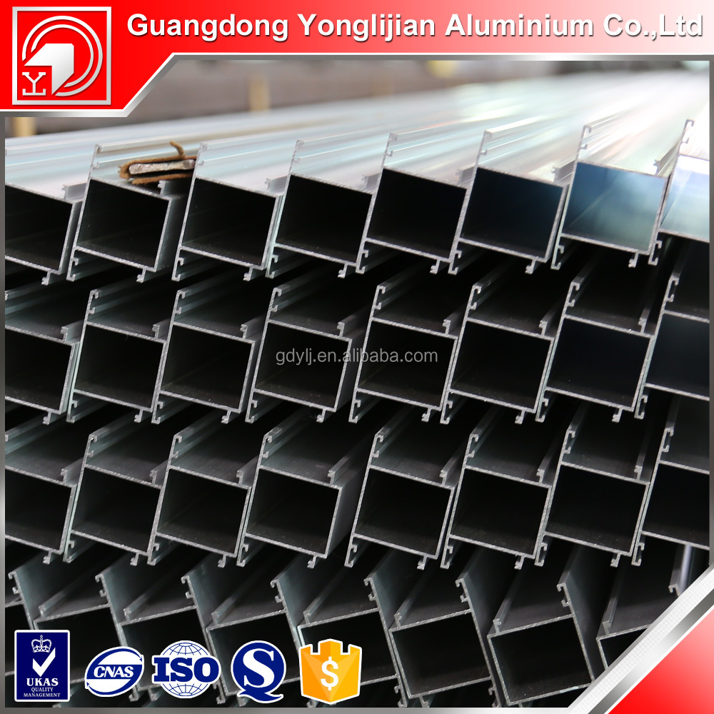 Interior Mechanical polished Water tightness aluminium profile for closet door