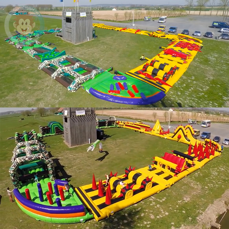 Giant Outdoor Boot Camp Inflatable Obstacle Course Rental ...