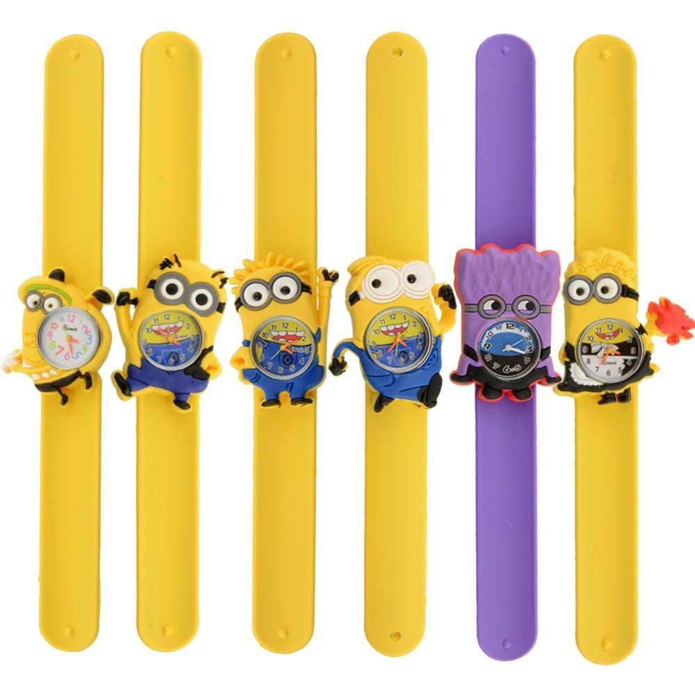 Оптовая цена покупатель хорошее качество девушка дамы дети мультфильм желтый кукла гадкий я карманные часы antibrittle ожерелье качество пластика на высоте.