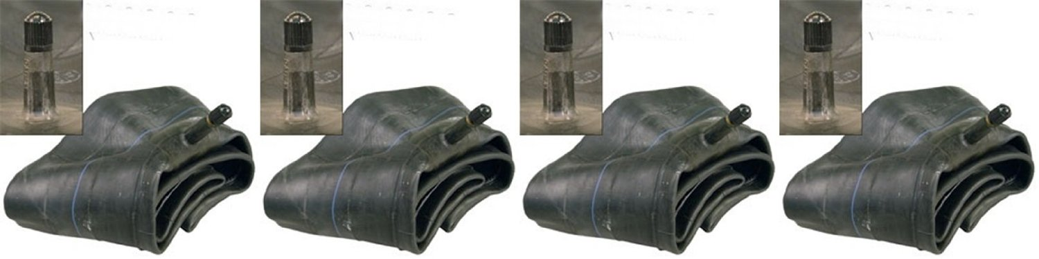 "SET OF FOUR (4) Air Loc Brand Tire Inner Tubes with TR13 Rubber Valve Stem (2 of 8"") & (2 of 12"") inch Combination Sizes 2 ea. 16x6.50/7.50-8 2ea 23x8.50/9.50/10.50-12"