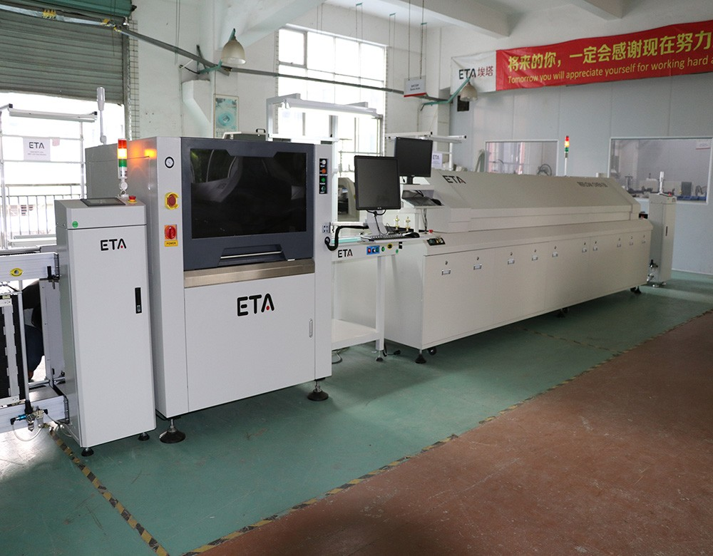 ETA reflow soldering oven for making LED light