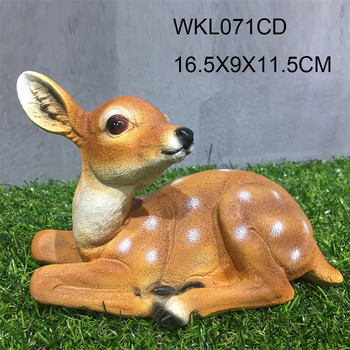 Home garden real size deer baby deco figurines statue