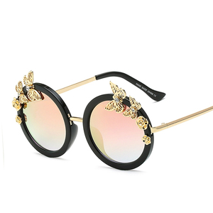 Fashion New Arrival round Sweet Sexy Eyewear UV400 Butterfly Sunglasses