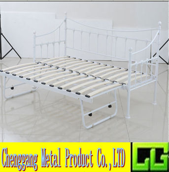 Modern White Twin Metal Daybed Frame For Bedroom - Buy Modern Double ...