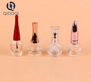 wholesale old fashion empty nail varnish bottle with painted lid